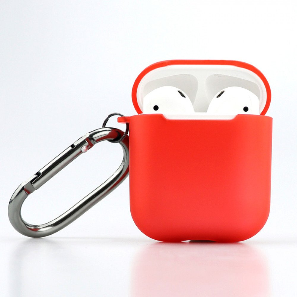 fb626559a4e Wholesale Premium TPU Cover and Skin for Apple Airpods Charging Case with  Hook Clip (Red)