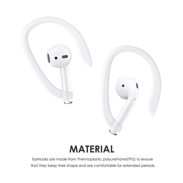 Wholesale AirPods EarHook for Apple AirPods Great for Running, Jogging, Cycling, Gym and Other Activities (White)