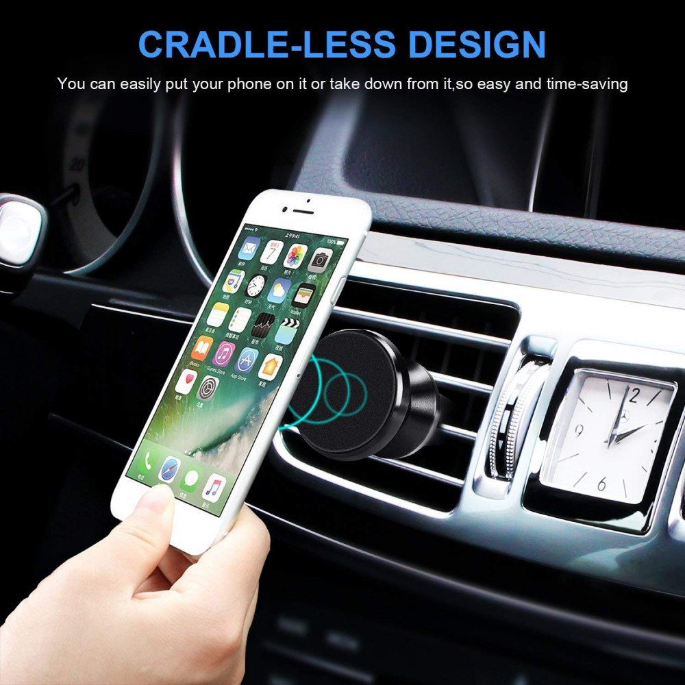 Wholesale 360 Universal Magnetic Snap On Air Vent Car Mount Holder