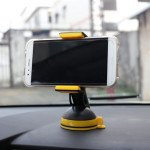 Wholesale Clip Grip Windshield and Dashboard Car Mount Holder for Phone KI-021 (Black)