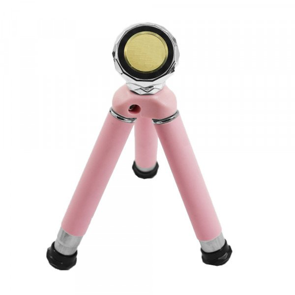 Wholesale Universal Flexible Magnetic Cell Phone Holder Tripod Stand KI-1001A (Pink)
