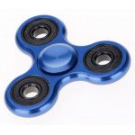 Wholesale Aluminum Metal Classic Fidget Spinner Hand Stress Reducer Toy for Anxiety Adult, Child (Blue)