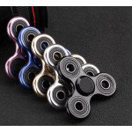 Wholesale Aluminum Metal Classic Fidget Spinner Hand Stress Reducer Toy for Anxiety Adult, Child (Black)