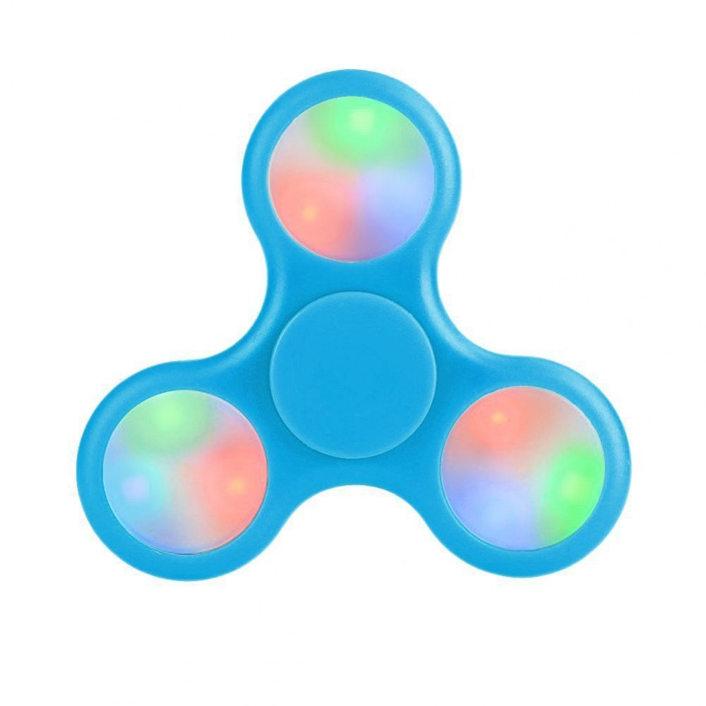 Wholesale Led Light Up Push Button Switch Fidget Spinner