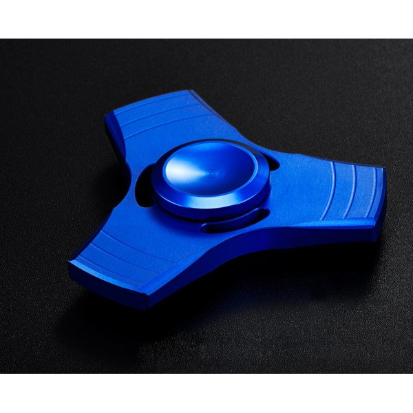 Wholesale Tri Aluminum Fidget Spinner Stress Reducer Toy for Autism Adult, Child (Blue)