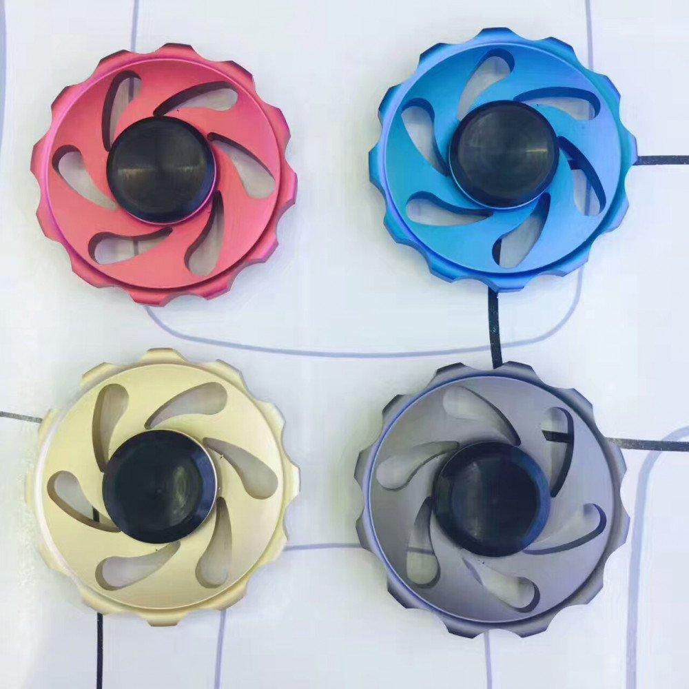 Wholesale Wheel Design Aluminum Metal Fidget Spinner