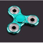 Wholesale Electroplate Fidget Spinner Hand Stress Reducer Toy for Anxiety, and Autism Adult, Child (Black)