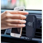 Wholesale Wireless Charger Universal Gravity Long Neck Windshield and Dashboard Car Mount Holder (Black)