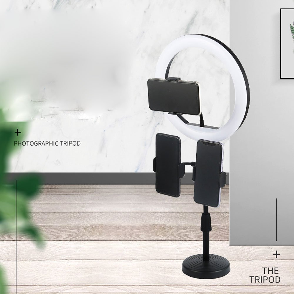 Wholesale 10 inch Selfie Ring Light with Table Top Stand & Cell Phone Holder for Live Stream, Makeup, YouTube Video, Photography TikTok, & More Compatible with Universal Phone (Black)