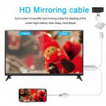 Wholesale USB to HDTV Cable HD Video Adapter to HDMI TV Projector Plug. MHL Screening Mirroring for Smartphones (Silver)