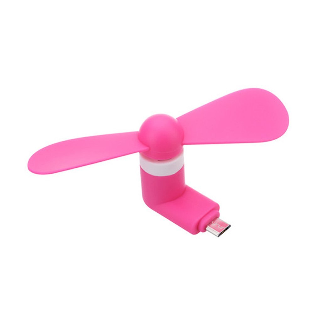 Pink Electric Fan : Wholesale micro usb android v portable cell phone mini