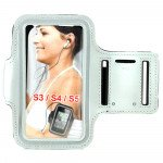 Samsung Galaxy S5 S4 S3 Sports Armband (Silver)