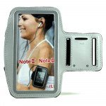 Samsung Galaxy Note 4 3 2 Sports Armband (Silver)
