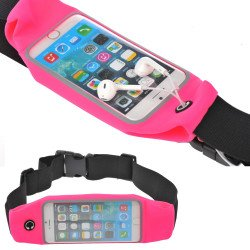 iPhone 6s Plus / 6 Plus 5.5 Universal Sports Pouch Belt (Hot Pink)