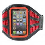 iPhone 5S 5C 5 Mesh Armband (Red)