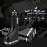 Wholesale Wireless Bluetooth Stereo Handsfree Headset with Car Charger Feature A1 (Black)