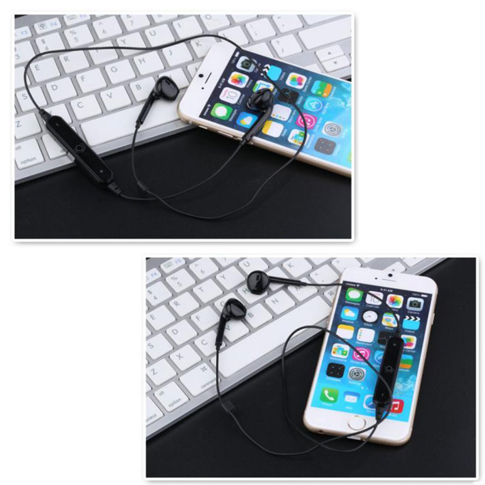 wholesale iphone 7 earbuds wireless bluetooth stereo sports headset bt10 black. Black Bedroom Furniture Sets. Home Design Ideas