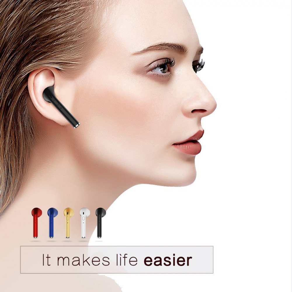 wholesale iphone style bluetooth wireless earbuds headset right side only blue. Black Bedroom Furniture Sets. Home Design Ideas
