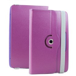 Universal 7 inch 360 Premium Flip Leather Tablet Case (Purple)