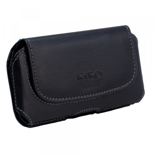 Wholesale Galaxy S3 Extendable Horizontal Pouch (Round Black)