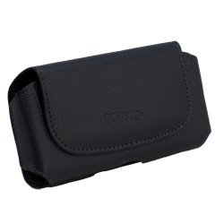 iPhone 5S 5 5C 4S Extendable Horizontal Pouch (Round Black)