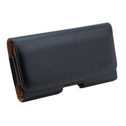 Galaxy S6 Horizontal Slim Armor Belt Pouch (Black)
