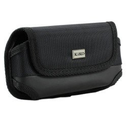 Galaxy S6 Extendable Horizontal Vinyl Belt Pouch (Black)