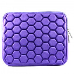 "Bubble Design iPad Tablet Sleeve Pouch Bag with Zipper 10"" (Purple)"