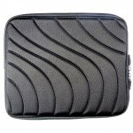 "Wholesale Wave Design iPad Tablet Sleeve Pouch Bag with Zipper 10"" (Black)"