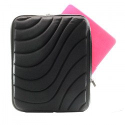 "Wave Design iPad Tablet Sleeve Pouch Bag with Zipper 10"" (Black)"