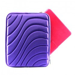 "Wave Design iPad Tablet Sleeve Pouch Bag with Zipper 10"" (Purple)"