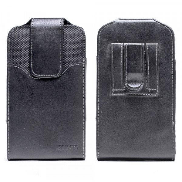 Wholesale iPhone 8 Plus / 7 Plus / 6S / 6 Plus Vertical Armor Double Loop Belt Clip Pouch (Black)