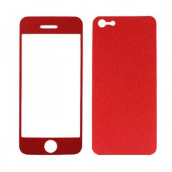 iPhone 5 Color Front & Back Screen Protector (Red)