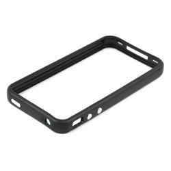 iPhone 4S 4 Bumper with Chrome Button (Black)