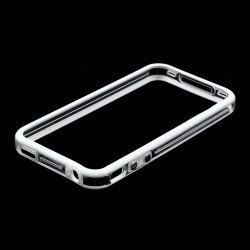 iPhone 4S 4 Bumper with Chrome Button (White Clear)
