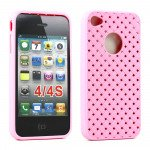 Wholesale iPhone 4S Net Gel case (Pink)