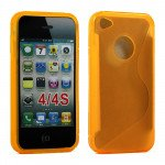 Wholesale iPhone 4S S Gel case (Yellow)