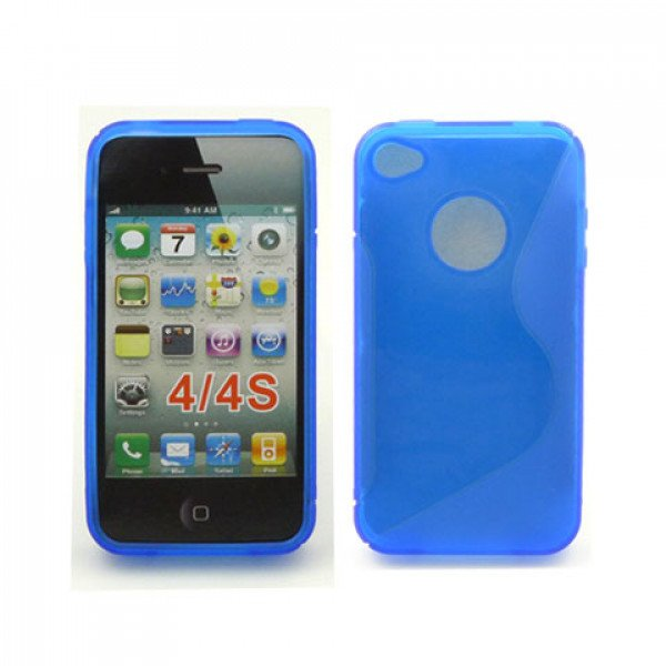 Wholesale iPhone 4S S Gel case (Blue)