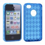 Wholesale iPhone 4S 4 Argley TPU Gel Case (Blue)