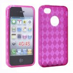 Wholesale iPhone 4S 4 Argley TPU Gel Case (Hot Pink)