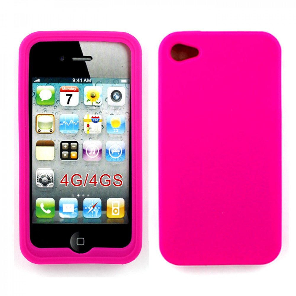 pink iphone 4 case iphone 4 4s silicone soft pink 6665