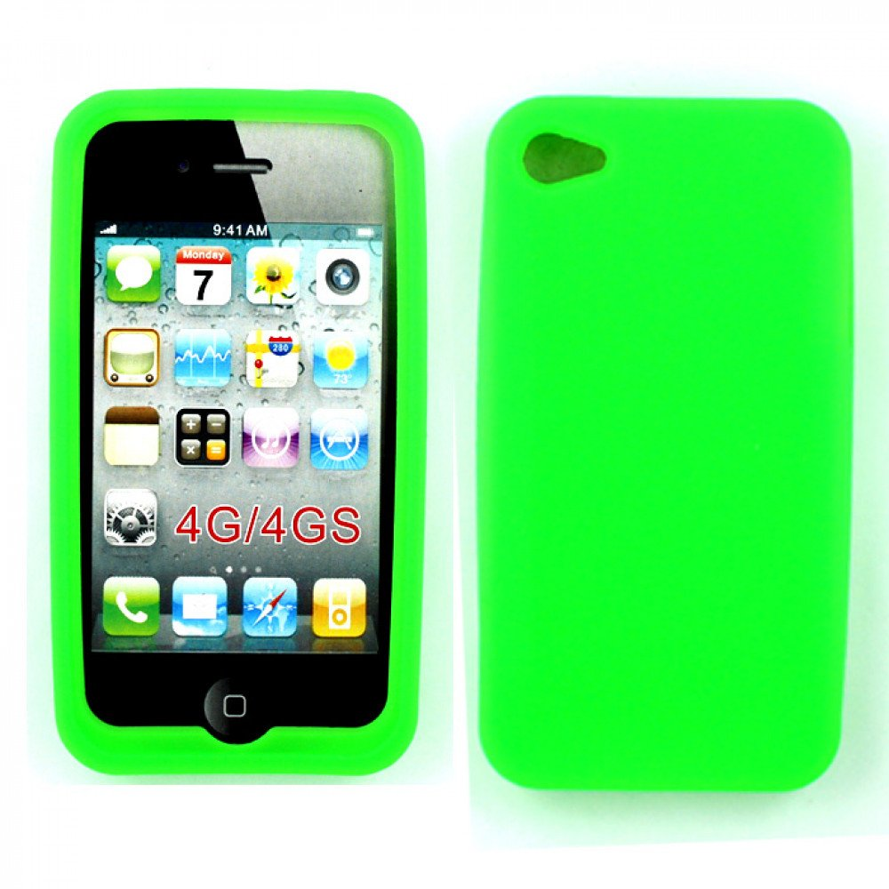 cheap iphone cases iphone 4 4s silicone soft green 3157