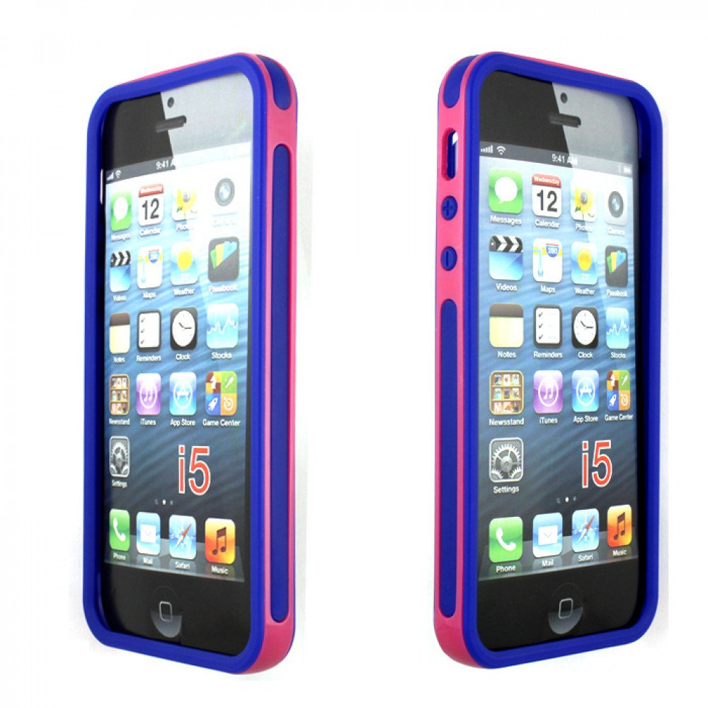 cheap iphone 5s iphone 5 5s 2 in 1 bumper pink purple 10369