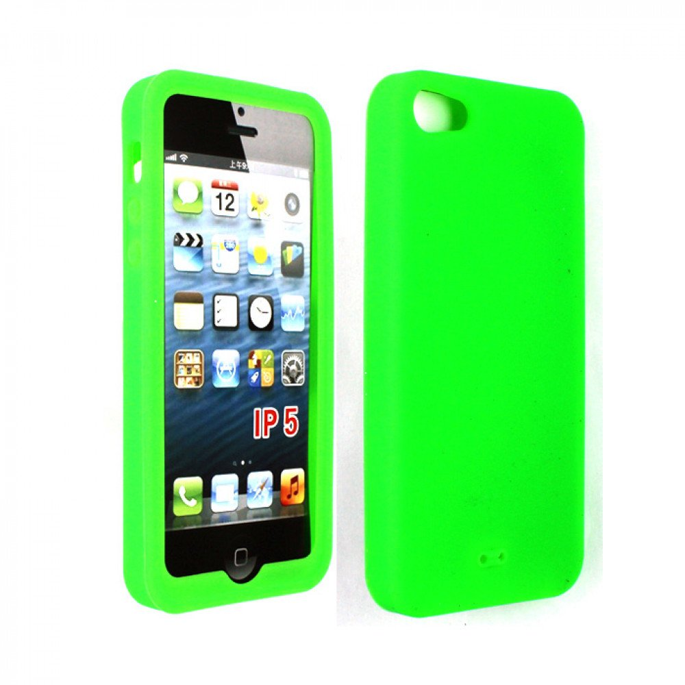 cheap iphone 5 cases iphone 5 silicone skin green 13789
