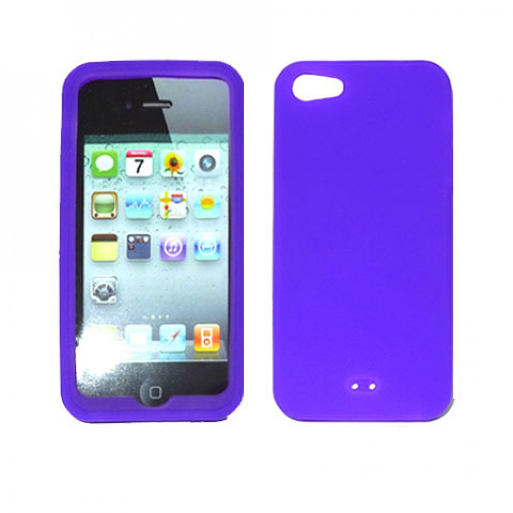 silicone iphone 5 case iphone 5 silicone skin purple 16129