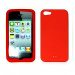 iPhone 5 Silicone Skin Case (Red)