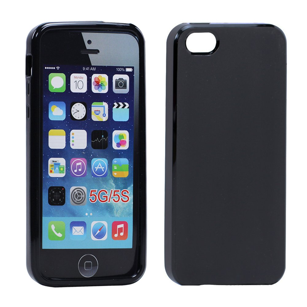 Wholesale Iphone 5 5s Matte Tpu Gel Case Black