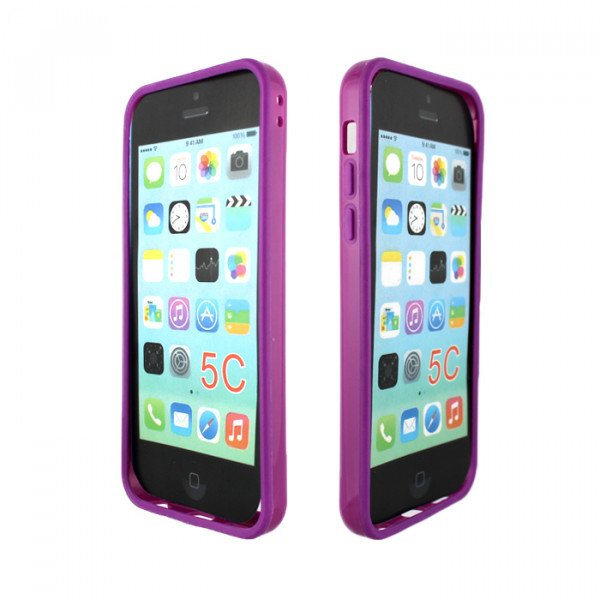cheap iphone 5c cases iphone 5c bumper purple 13790