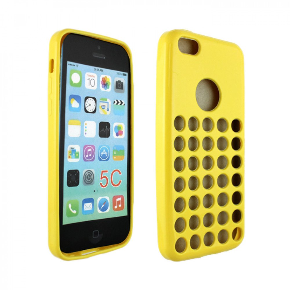 Wholesale iPhone 5C Colorful TPU Case (Yellow)