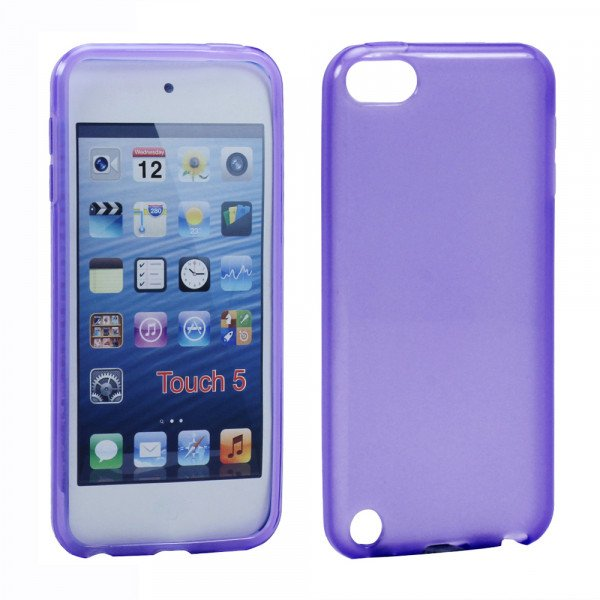 Wholesale iPod Touch 5 TPU Gel Soft Case (Purple)